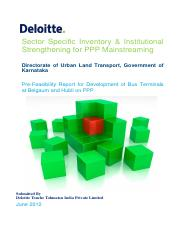 Deloitte - Pre-Feasibility Report for Bus Terminals Belgaum and Hubli.pdf