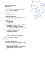 Reading quiz for chp. 2