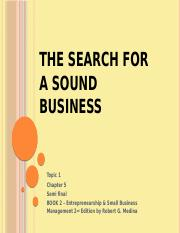 1CHAPTER5-the search of a sound idea