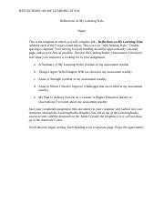 GEN-111 2.6 Template for Reflections on My Learning Style.docx