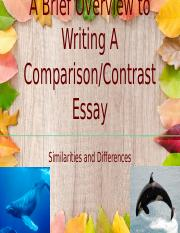 Comparison/Contrast Writing Presentation.pptx