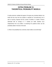 Extra Problem 10 - Theoretical Probability Models