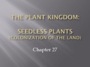 chapter27 and 28 col of land, seedless and seeded