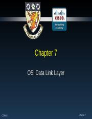 Chapter 7 - Data Link Layer