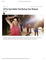 10 Pre-Gym Habits That Destroy Your Workout
