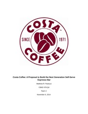 Costa Coffee appendix example