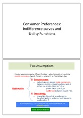 Notes - Consumer Preference