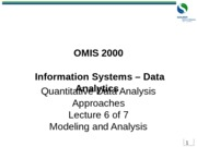 OMIS 2000 Data Analytics 6of7