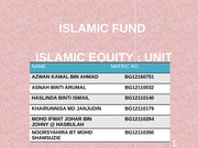 Islamic Unit Trust Fund