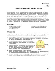 29 Ventilation Heart Rate