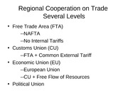 3 Economic Integration slides
