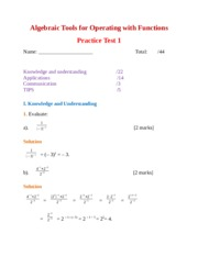MCR 3U Algebraic Tools for Operating with Functions Test 1.docx