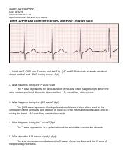 Week 10 Pre-Lab Experiment 6 EKG and Heart Sounds (New)(1)
