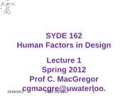 SYDE 162 2012 Lectures Week 1