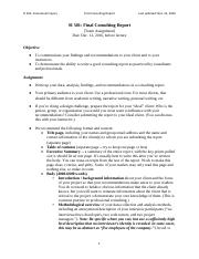 12 Consulting Report Assignment