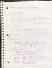 BIO- September 12 Lecture notes