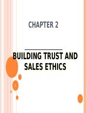 chapter 2 building trust and sales ethics 2