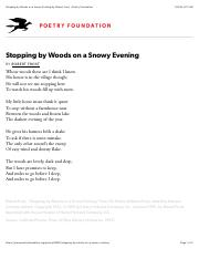 Stopping by Woods on a Snowy Evening by Robert Frost | Poetry Foundation.pdf