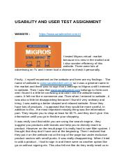 Usability and  User Test Assignment.docx