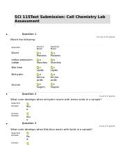 SCI 115 Cell Chemistry Lab Assessment.docx