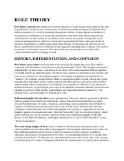 Role Theory