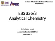 EBS 336 Analytical Chemistry