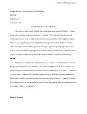 Final Religion Paper