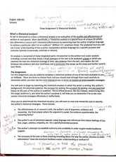 rhetorical crtique essay 4 persuasion and assessment: what areas in the essay do you find the rhetorical analysis most convincing what areas in the essay do you find may need more evidence.