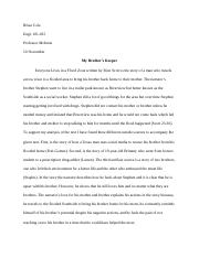 Essay 3 - My Brother's Keeper