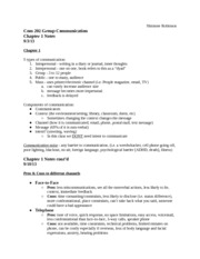 Group Communication - Chapter 1 Notes