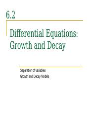 6.2+(Separable+Differential+Equations+Growth+and+Decay)