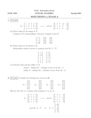 MTH 1230 Exam 2 Solutions