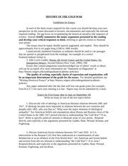 Cold war essay topics