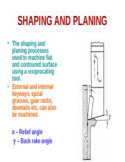 SHAPING AND PLANING.ppt