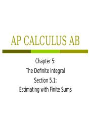 Calc 2-11 Estimating with Finite Sums Section 6_1.ppt