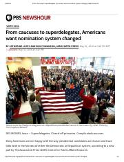 Catherine Lucey-From caucuses to superdelegates, Americans want nomination system changed -May 31 20