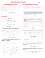 (2015-16 Fall) Math 2011 Tutorial 11