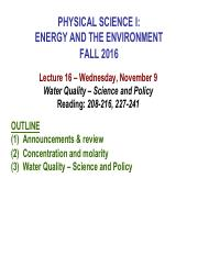 E_E Fall 2016 Lecture 16  Water Quality_student version