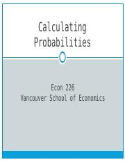 Chapt.4 Calculating Probabilities