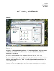 NT1230 Lab 5 Working with Firewalls
