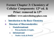 Chemistry of Cellular Components slides (Old version - Ch. 3) (2)