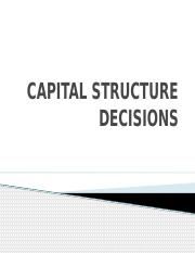 CAPITAL STRUCTURE DECISIONS.pptx