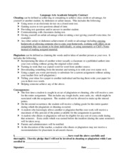 2010 LA Academic Integrity Contract