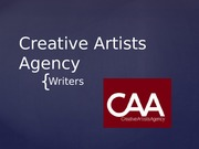 Example of Presenting CAA Writers