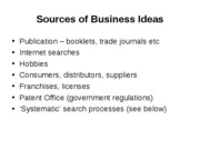 3b  Sources of Business Ideas