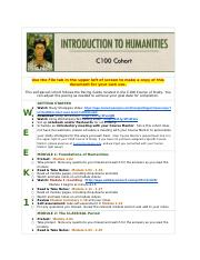 C100IntroductiontoHumanitiesSELF-PACEDCOHORT.docx