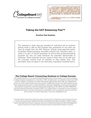 Official SAT 2004-2005 Practice Test