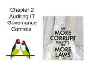 Chap02 Lesson3 Auditing IT Governance Controls