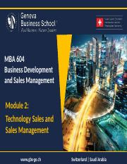 160801_MBA_604_BDSM_Module_2_-_Technology_Sales_and_Sales_Management