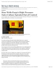 How Wells Fargo's High-Pressure Sales Culture Spiraled Out of Control - WSJ.pdf